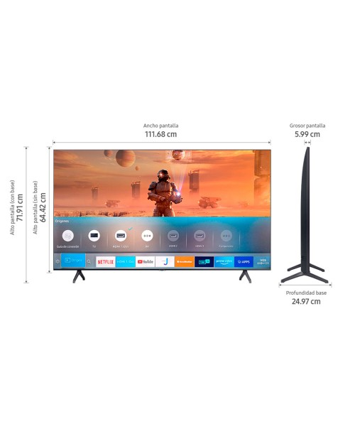 "TV Samsung 50"" TU7000 Crystal UHD 4K Smart"